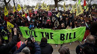 En Angleterre et au Pays de Galles, manifestations contre une loi jugée liberticide