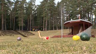 Record-breaking egg roll ramp constructed in Lithuania ahead of Easter