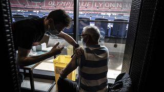 Le centre de vaccination sur Groupana Stadium (Olympique lyonnais) a ouvert ses portes samedi 3 avril 2021, France