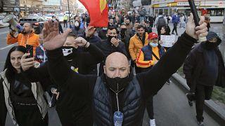Protesta contra las restricciones sanitarias en Rumanía