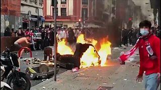 Imagen de los disturbios que se registraron en las calles de Bilbao.