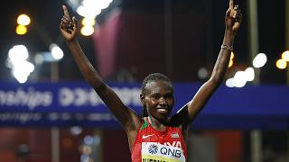Kenya's Ruth Chepngetich smashes half marathon world record