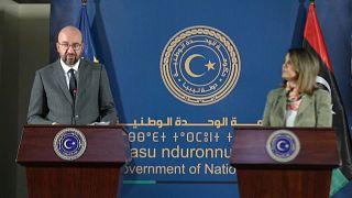 Líbia támogatását ígérte Charles Michel