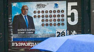 لافتة انتخابية لرئيس الوزراء المحافظ بويكو بوريسوف