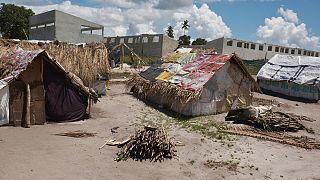 Um centro de abrigo temporário na vila de Palma a 18 de março de 2021
