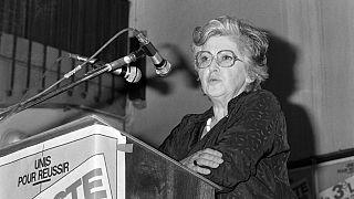 """Simone Iff,  militante française du droit à l'avortement, une des initiatrices du """"Manifeste des 343"""" - photo d'archives"""