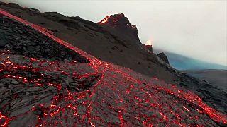 Többszáz méteres új hasadék nyílt az izlandi vulkán közelében