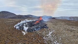 اتساع رقعة ثوران بركان آيسلندا