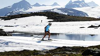 Illustrative picture: Norwegian cross-country skier Therese Johaug during a training session at Sognefjellet, Norway,