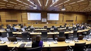 Birleşmiş Milletler'e bağlı Uluslararası Atom Enerjisi Ajansı'nın Viyana'daki genel merkezinde 1 Mart'ta düzenlenen İran toplantısı