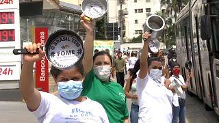 Manifestação anti-governamental em São Paulo, Brasil