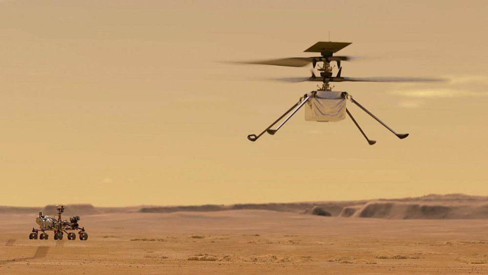Mars helikopteri Ingenuity, Kızıl Gezegendeki ilk dondurucu gecesinde hayatta kalmayı başardı | Euronews