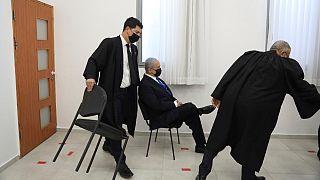 بنیامین نتانیاهو در جلسه دادگاه