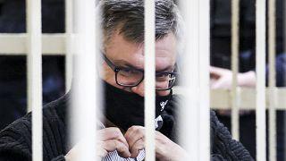 Виктор Бабарико в суде 17 февраля, Минск