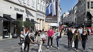 شارع ستروجيت التجاري في العاصمة الدنماركية كوبنهاغن. 2012/08/27