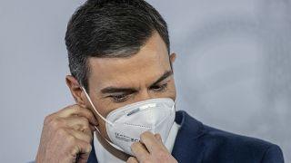 Pedro Sánchez en una rueda de prensa el 6 de abril de 2021