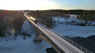 A railway bridge has been reopened across the Tornio river.