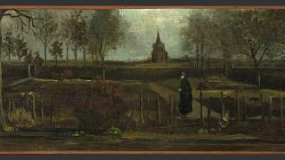 """This image provided by the Groninger Museum on Monday March 30, 2020, shows Dutch master Vincent van Gogh's painting titled """"The Parsonage Garden at Nuenen in Spring"""""""