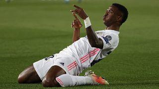 Vinicius Junior két gólját is ünnepelhette a Liverpool ellen