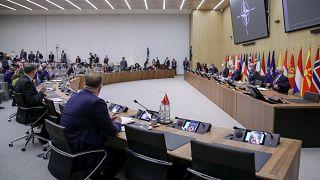 Una reunión de ministros de Asuntos Exteriores de la OTAN en la sede de la OTAN en Bruselas, el 24 de marzo de 2021. (Imagen de ilustración).