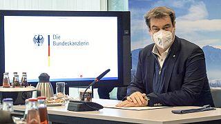 Markus Söder Ende Februar 2021 in München