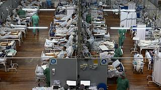 Hôpital de campagne dans l'Etat de Sao Paulo (Brésil), le 26/03/2021