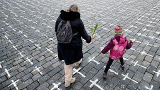 یادبود جانباختگان بیماری کووید-۱۹، پراگ، جمهوری چک