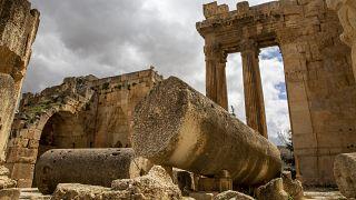 Les ruines romaines de Baalbek, dans la plaine de la Bekaa au Liban, le 1er avril 2021