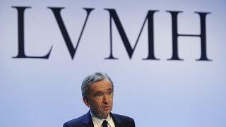 CEO of LVMH Bernard Arnault on Jan. 28, 2020.