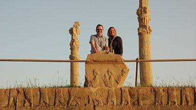 Lisa Jackson and Graham Williams at Persepolis in Iran