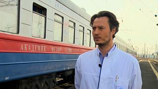 """Roman Deryagin, subdirector del tren médico """"Académico Fyodor Uglov"""""""