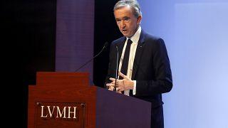 LVMH-CEO Bernard Arnault präsentiert die Ergebnisse des Konzerns für 2019 während einer Pressekonferenz in Paris, 28.01.2020