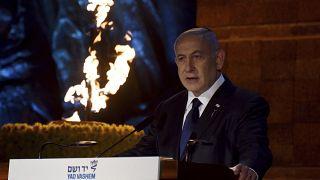 بنیامین نتانیاهو در مراسم بزرگداشت قربانیان هلوکاست یاد واشم