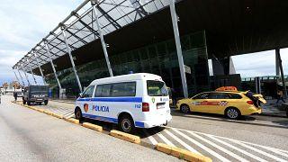 File photo of police at Tirana international airport
