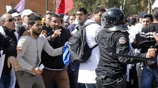 Contract teachers clash with Moroccan police as they pile pressure on authorities