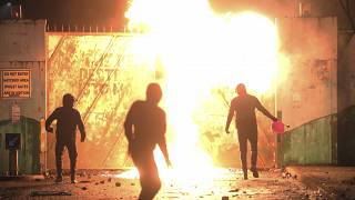 Seven consecutive nights of unrest have prompted comments from leaders in the US, UK and Ireland