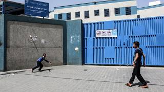 مدرسة تديرها وكالة الأمم المتحدة لإغاثة وتشغيل اللاجئين الفلسطينيين (الأونروا) في مدينة رفح جنوب قطاع غزة في 6 أبريل- نيسان 2021
