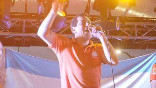 Andrés Arauz en su mitin de cierre de campaña en Guayaquil
