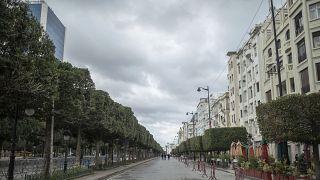 شارع الحبيب بورقيبة، تونس العاصمة. 2021/01/14