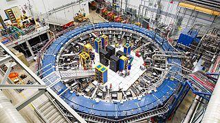 Das von Fermilab zur Verfügung gestellte Foto zeigt den Muon g-2 Ring am Fermi National Accelerator Laboratory außerhalb von Chicago, August 2017