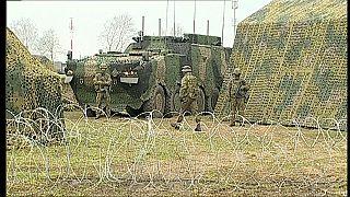 Военная техника и солдаты 18-й механизированной девизии ВС Польши