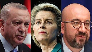 Erdoğan, von der Leyen, Michel