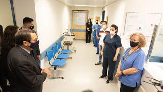 Ο Πρόεδρος της Κύπρου στο Νοσοκομείο Αναφοράς