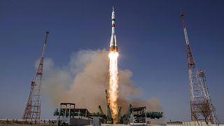 """Le vaisseau Soyouz """"Youri A. Gagarine"""" s'est envolé vers l'ISS"""