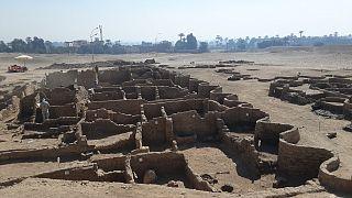 بخشی از پروژه حفاری و مرمت «شهر طلایی گمشده»