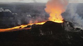 """Der Vulkan """"La Soufrière"""" auf der Karibik-Insel St. Vincent ist ausgebrochen"""