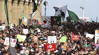 جانب من مظاهرات الحراك الجزائري، 9 أبريل 2021