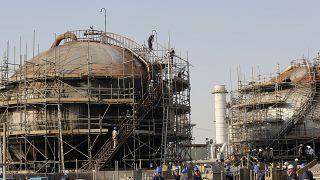 منشأة أرامكو النفطية، في جدة، المملكة العربية السعودية،  2021