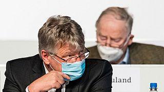 Bundesparteitag der AfD in Dresden mit Meuthen und Gauland