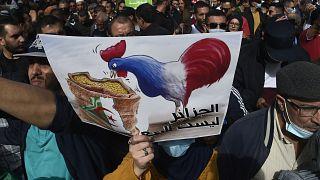 لافتة من المظاهرة الأخيرة لحراك الجزائر